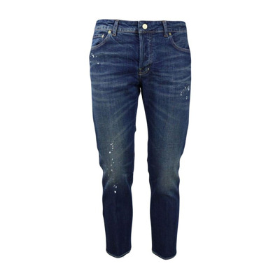 -pocket jeans striped denim with splashes of paint Entre amis