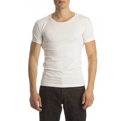 Alan Red T-Shirt No Neck White (two pack) Alan Red