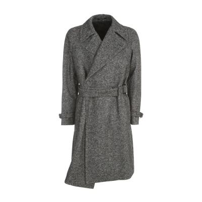 Wool Crossed Double Breasted Coat Tagliatore