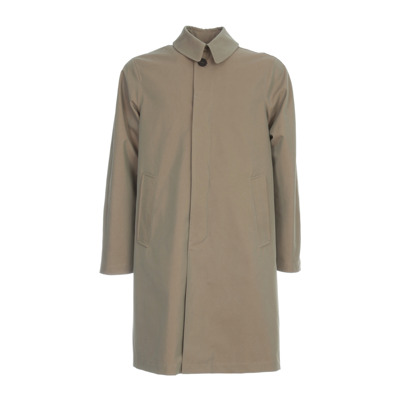 Cotton Polyester Checked Trench Doppiaa