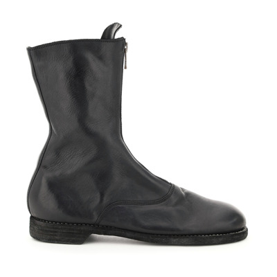 Front zip leather boots Guidi