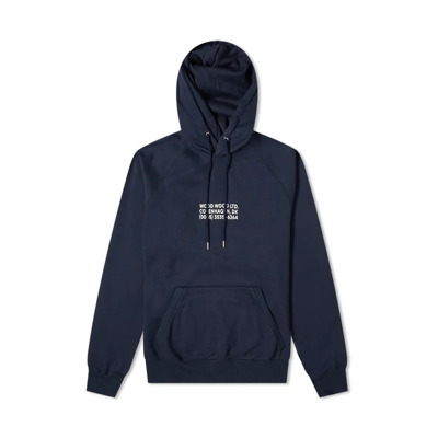 Fred Chest Logo Hoody Navy-L Wood Wood