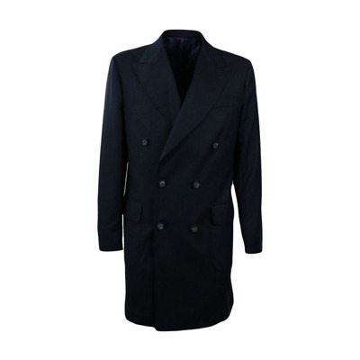 Double-breasted wool coat Entre amis