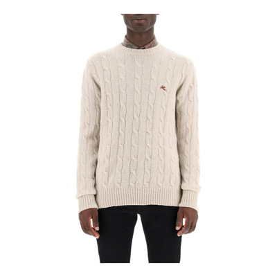 cable knit wool sweater Etro