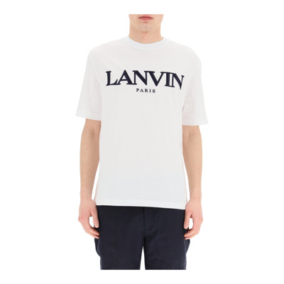 T-shirt logo embroidery Lanvin