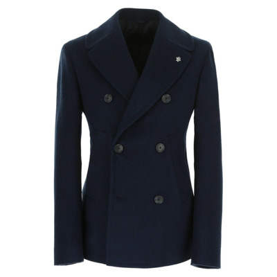 Navy style double-breasted men's jacket Lubiam