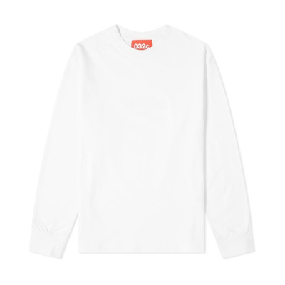 Longsleeve With Chest Embroidery White 032c