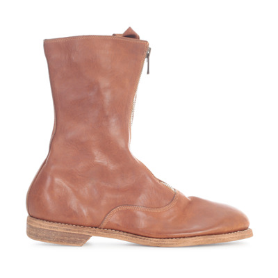 Front ZIP Army Boots Sole Leather Guidi