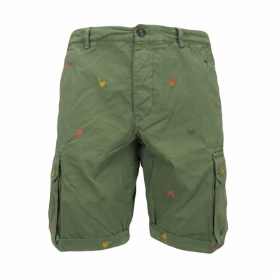cargo shorts with embroidered palm trees 40Weft