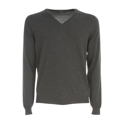 V Neck Flex Wool Sweater Zanone