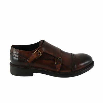 man derby brogue with double buckle fw  J.p. David