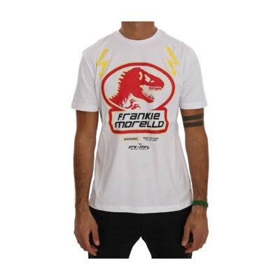 Cotton Crewneck T-Shirt Frankie Morello