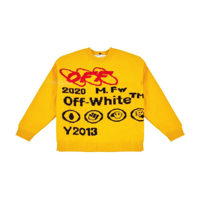 Bonded Knit Crew sweater Off White