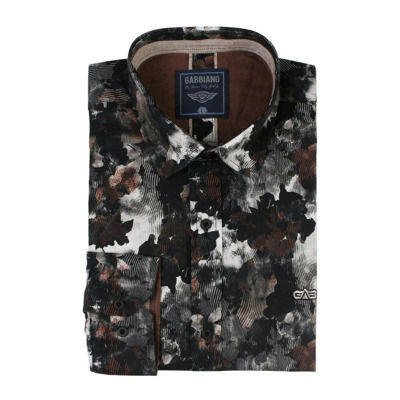 Pattern all-over leaves print Gabbiano