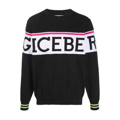 Pullover sweater with fluorescent profiles Iceberg