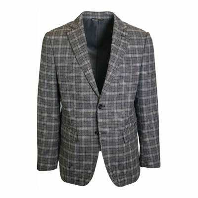 Single-breasted gray checked jacket J.w.sax Milano