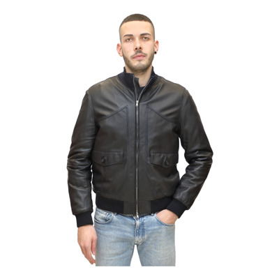 Inner quilted leather bomber Jeckerson