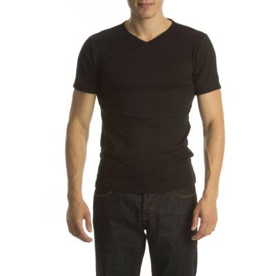Petrol T-Shirt Basic V-Neck Black ( p) Petrol
