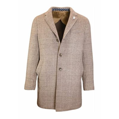 Single-breasted Prince of Wales coat J.w.sax Milano