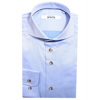 Overhemd slim fit blauw White