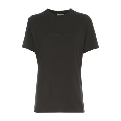 Crew Neck S  S Logo T-Shirt Moncler