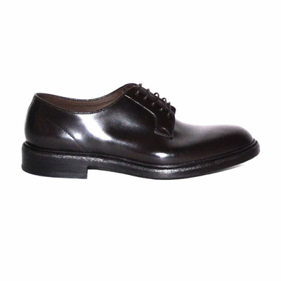 derby lace-up with non-slip dark brown sole Green George