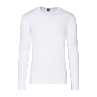 Alan Red Longsleeve stretch round neck Olbia White Alan Red