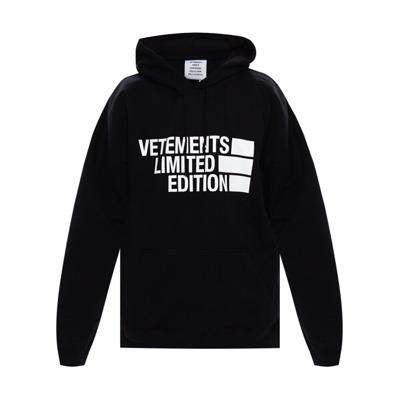 Logo-printed hoodie Vetements