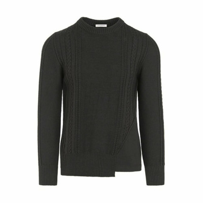 Crewneck sweater with inserts A - - S Paolo Pecora