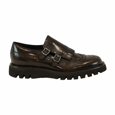 brogue moccasins with buckles and fringes man dark brown Fw Barrett