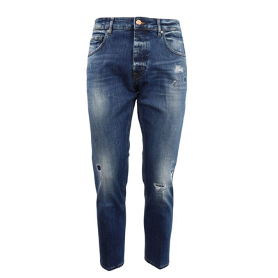 -pocket medium wash jeans with abrasions Don The Fuller