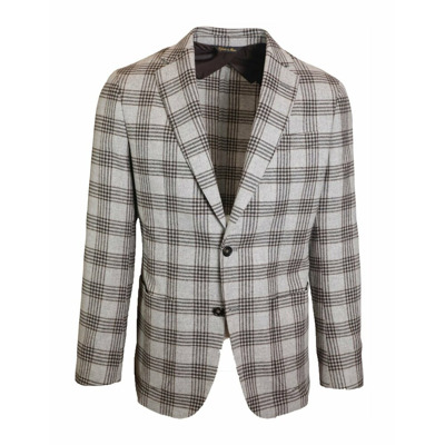 Single-breasted checked jacket J.w.sax Milano