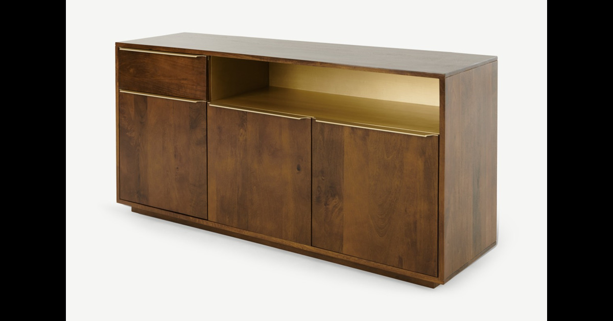 Anderson Sideboard, Mangoholz und Messing - MADE.com