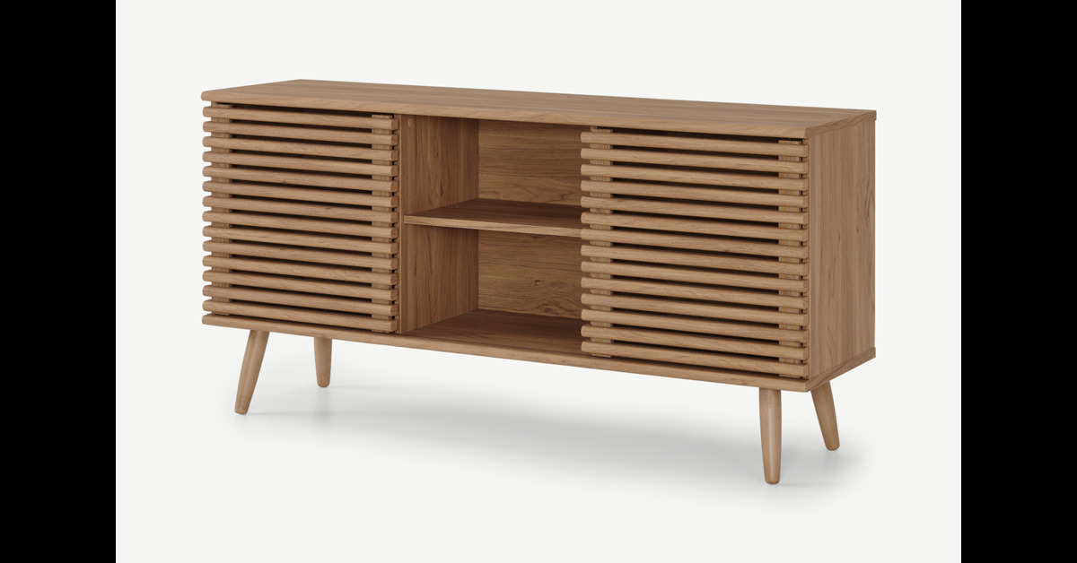 Tulma breites Sideboard, Eichen-Finish - MADE.com