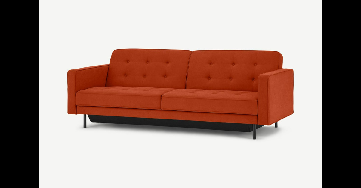 Rosslyn Klappsofa mit Stauraum, Sedona-Orange - MADE.com