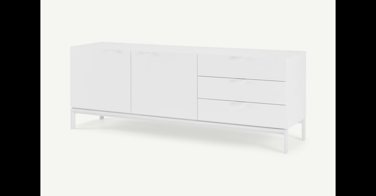 Marcell breites Sideboard, Weiss - MADE.com