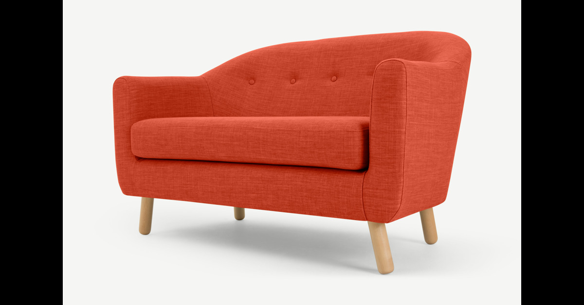 Lottie 2-Sitzer Sofa, Toskanaorange - MADE.com