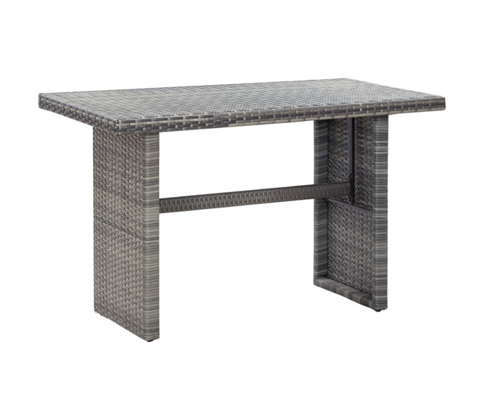 Antracitszürke polyrattan kerti asztal 80 x 80 x 74 cm