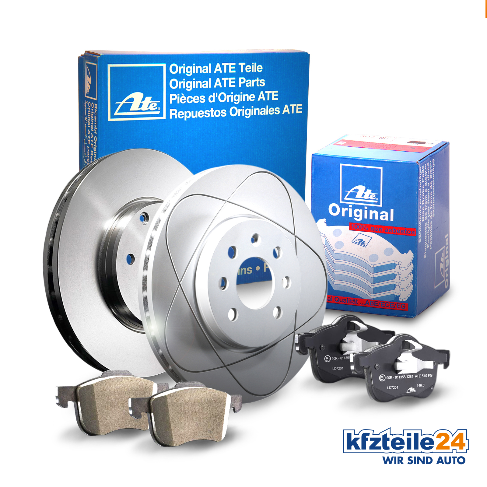 Bremsbeläge Hinten u.a für Hyundai KIA ATE2 Bremsscheiben Voll 262 mm