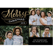 Christmas Photo Cards 5x7 Cards, Premium Cardstock 120lb with Scalloped Corners, Card & Stationery -Christmas 2018 Swirl by Tumbalina
