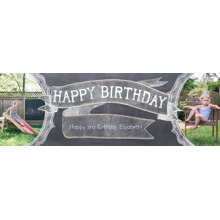 Birthday Photo Banner 2x6, Home Decor -Chalkboard Celebration
