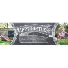 Birthday 2x6 Peel, Stick & Reuse Banner, Home Decor -Chalkboard Celebration