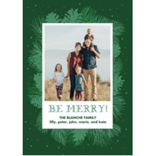 Christmas Photo Cards 5x7 Cards, Premium Cardstock 120lb with Elegant Corners, Card & Stationery -Natural Pine