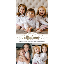 Christmas Photo Cards 4x8 Flat Card Set, 85lb, Card & Stationery -Christmas Happiest Stars