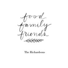 Non-Photo 12x18 Poster, Home Decor -Food Family Friends