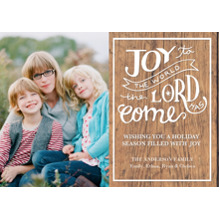 Christmas Photo Cards 5x7 Cards, Premium Cardstock 120lb with Elegant Corners, Card & Stationery -Christmas Rustic Joy to the World