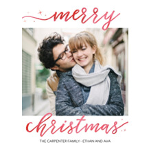 Christmas Photo Cards 5x7 Cards, Premium Cardstock 120lb with Elegant Corners, Card & Stationery -Christmas Rustic Hand Lettered