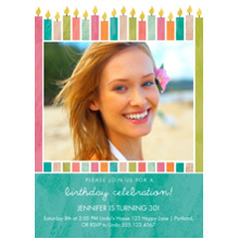 Birthday Party Invites 5x7 Cards, Premium Cardstock 120lb, Card & Stationery -Make a Wish
