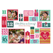 Christmas Photo Cards 5x7 Cards, Premium Cardstock 120lb with Rounded Corners, Card & Stationery -Advent Christmas