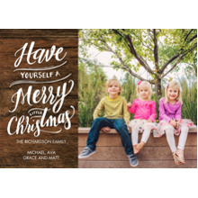 Christmas Photo Cards 5x7 Cards, Premium Cardstock 120lb with Elegant Corners, Card & Stationery -Christmas Sparkling Gold